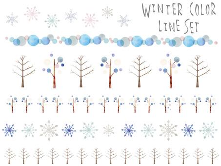 겨울 색 라인 세트 ver03