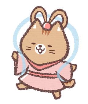 Tanabata Orihime Cat