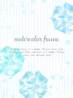 Umbrella watercolor frame 02
