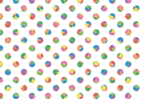 Polka dot background (rainbow color)