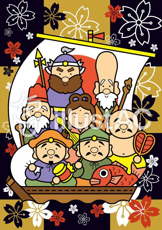 七福神カードのイラスト
