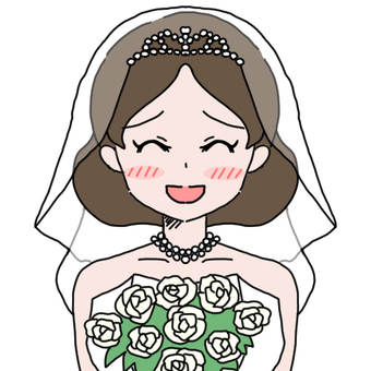 Wedding dress 1 + bouquet (s)