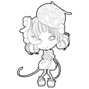 Melon-chan coloring page