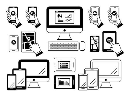 圖標PC /智能手機/平板電腦