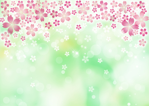 Sakura Green Background