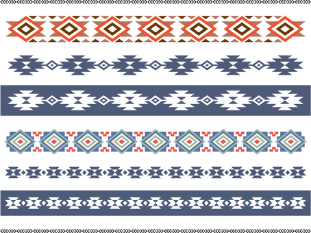 Stylish decorative border (native pattern) 1