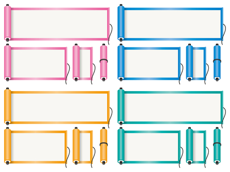 Colorful scroll frame set