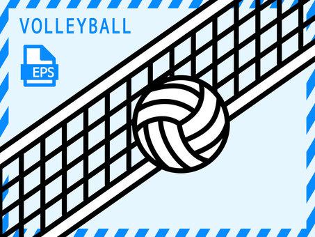 Volleyball illustration <2>