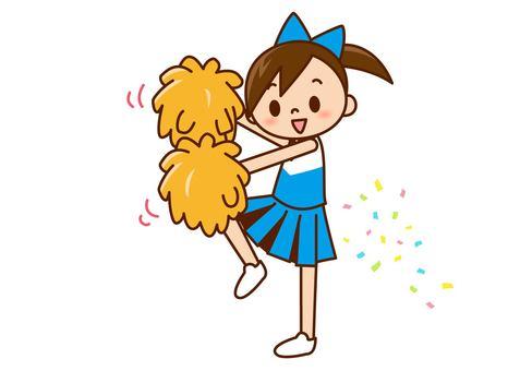 Cheerlead - Furifuri light blue next to it