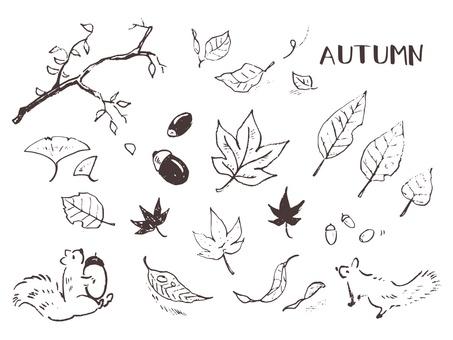 낙엽이나 목이나 도토리 등