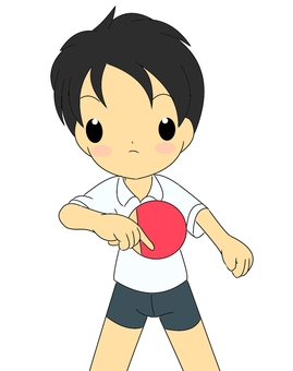 Table tennis boy