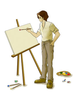 A young painter 1