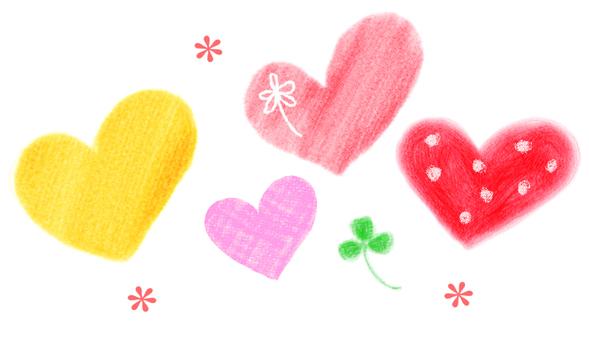 心和三葉草的插圖
