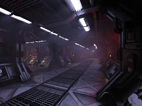宇宙船内通路