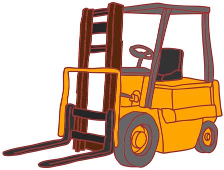 Illustration of a forklift