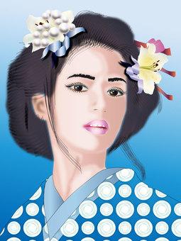 Japanese hair woman 08