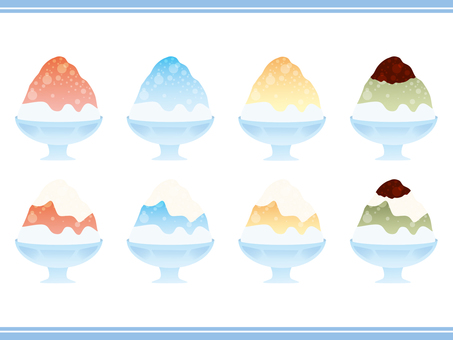 Shaved ice collection