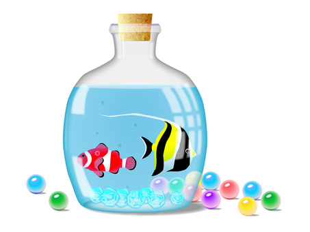 Tropical fish in the bottle