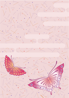 Japanese style butterfly background