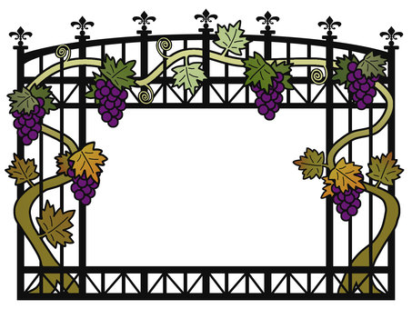 Trellis-like frame (with grapes)
