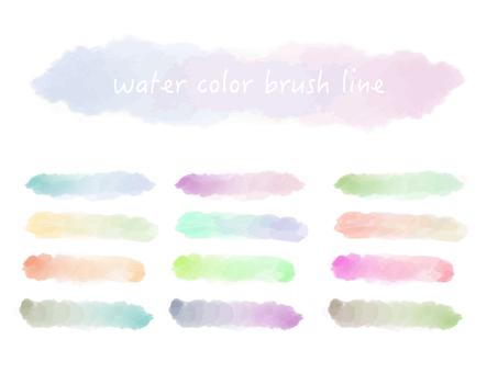 水彩ブラシライングラデーション