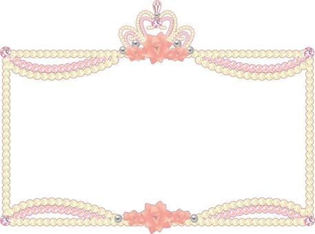 Rose tiara frame