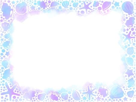 Frame-glitter shell