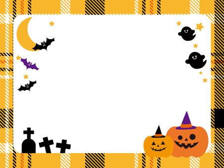 Halloween tartan check frame