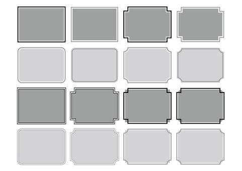 31-Frame / decoration frame set 2 monochrome