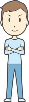 Youth Blue Long Sleeve - 043 - whole body