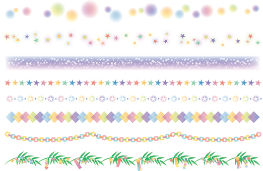 Decorative ruling of Tanabata