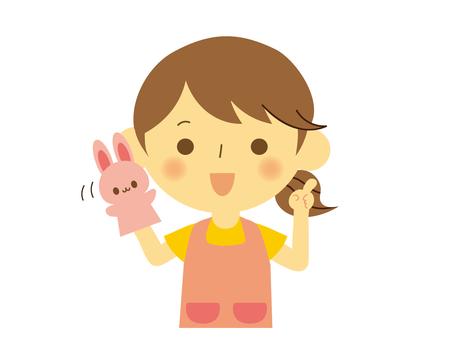 Childminder woman puppet