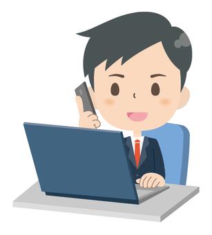 Businessman * Personal computer business 04