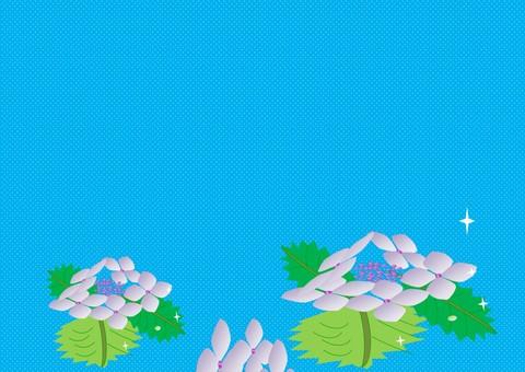 Hydrangea (landscape light blue)