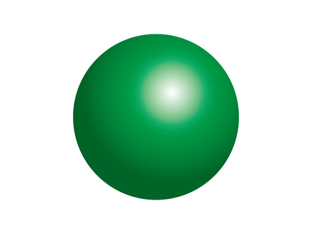 Solid sphere (2) green