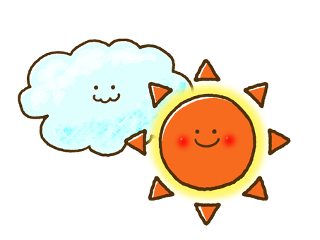 (Weather) sunny and sometimes cloudy