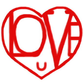 Heart love you (u)