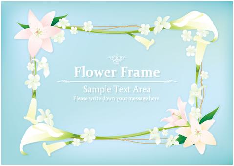 Elegant flower frame
