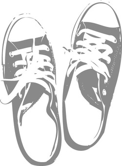 Sneakers silhouette