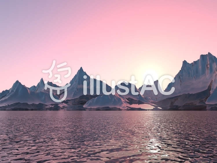 光沢惑星 x の景観のイラスト