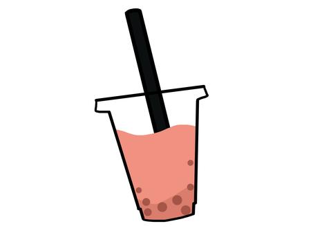 Tapioca strawberry milk