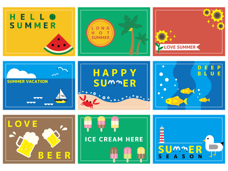 Summer material (card side) 04