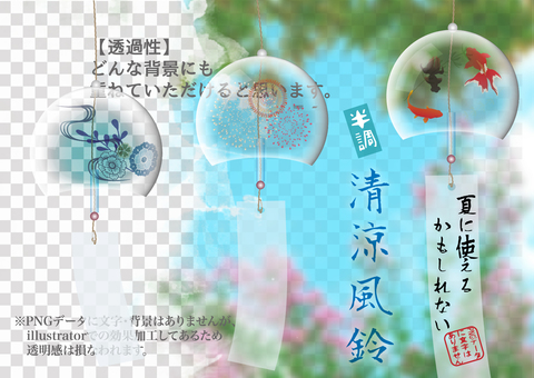 Background material may be used in the summer 50 wind chimes