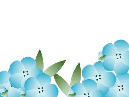 네모 피라의 꽃 프레임