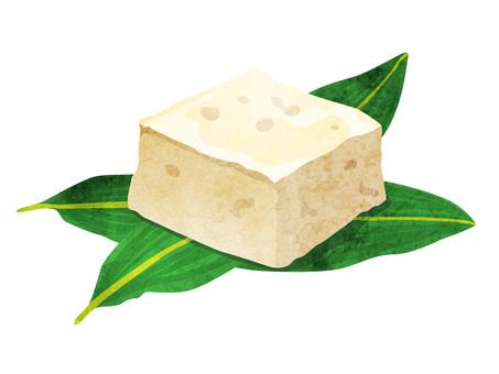 加工食品_大豆製品_豆腐_水彩
