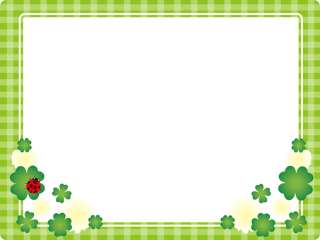 Green check · clover background