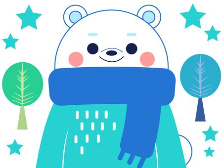 Polar bear winter outfit