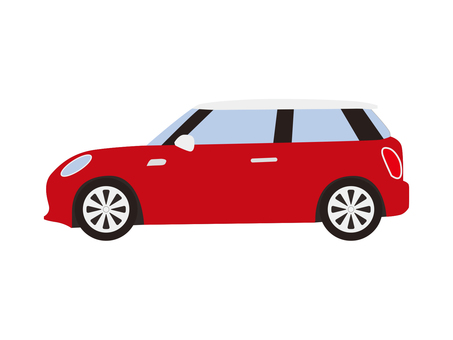 Compact car (red)