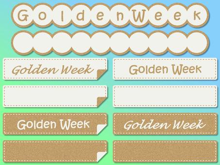 Golden week cover label stitch