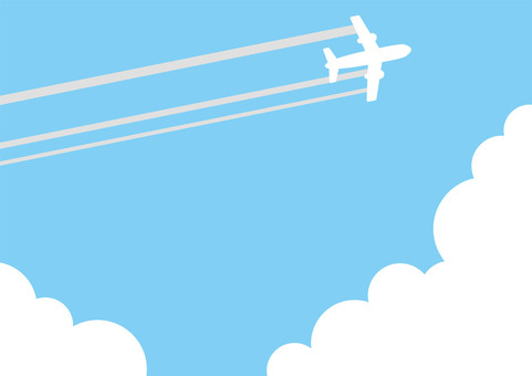 Airplane and sky and clouds 2